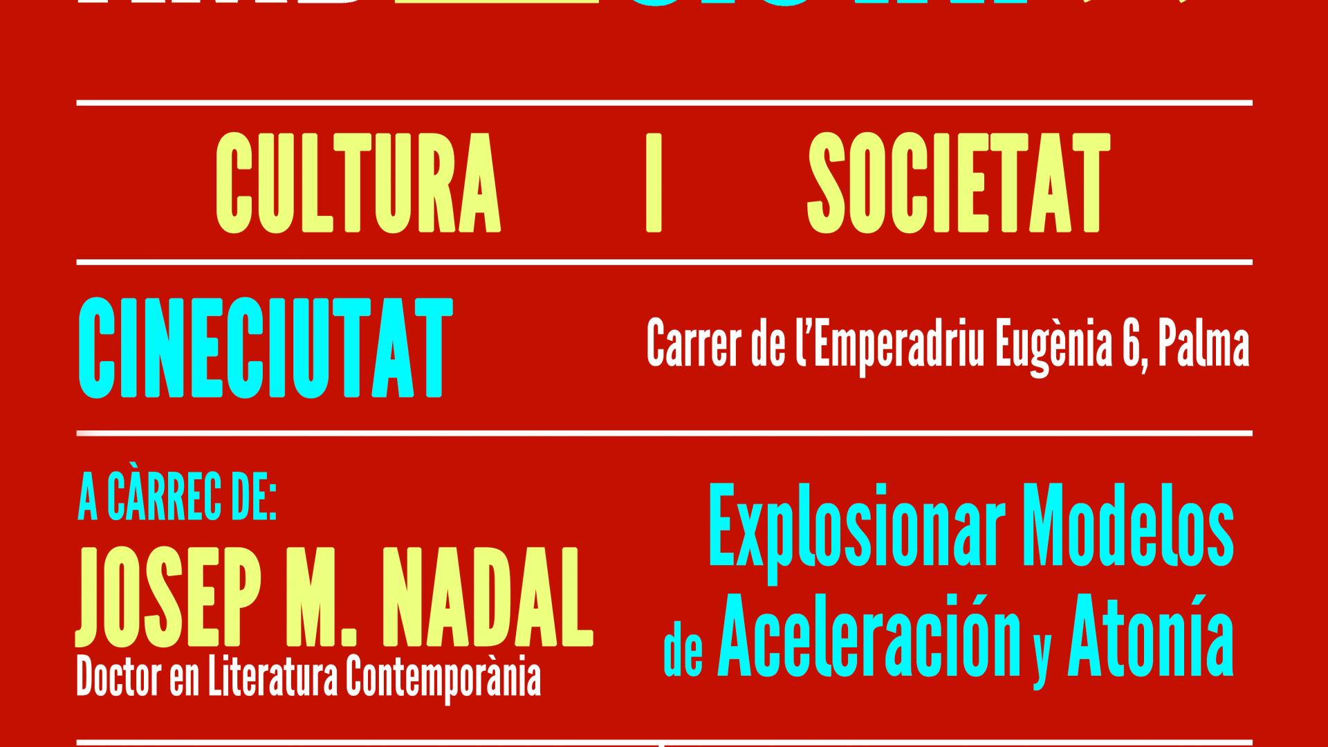 DIÀLEGS AMB CIUTAT: CULTURA Y SOCIEDAD - JOSEP MARÍA NADAL SUAU